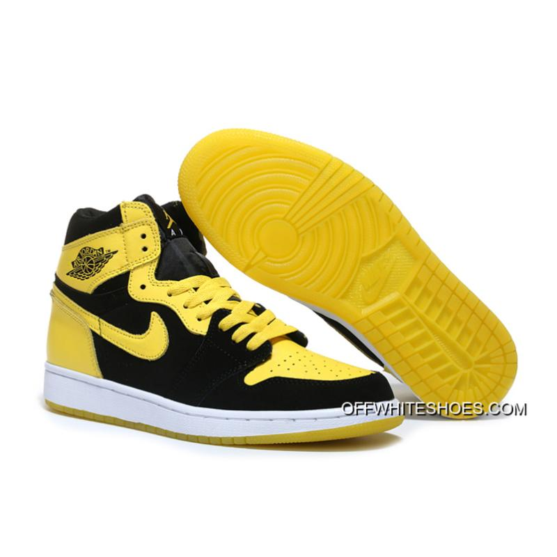 "Air Jordan 1 Mid ""New Love"" Black Varsity Maize-White New Year Deals ... 8d6da8157"