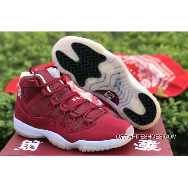 """best loved e7cc4 b624b Air Jordan 11 """"CNY"""" Chinese New Year All-Red White Shoes Latest ..."""