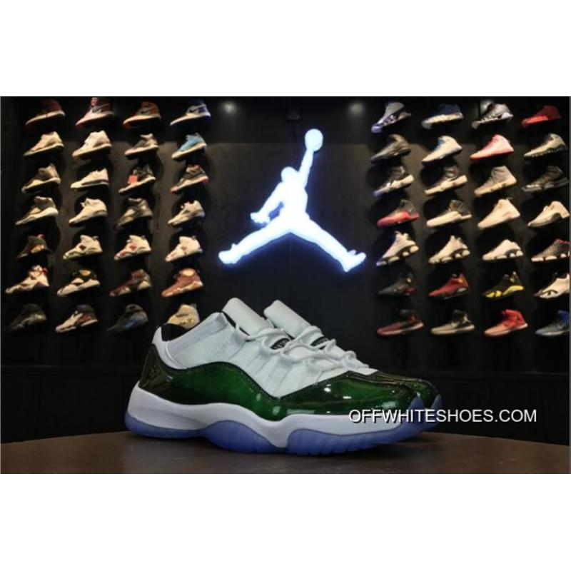"hot sale online 5cfdc f5be0 Air Jordan 11 Low ""Easter"" White Emerald Rise-Black Online ..."
