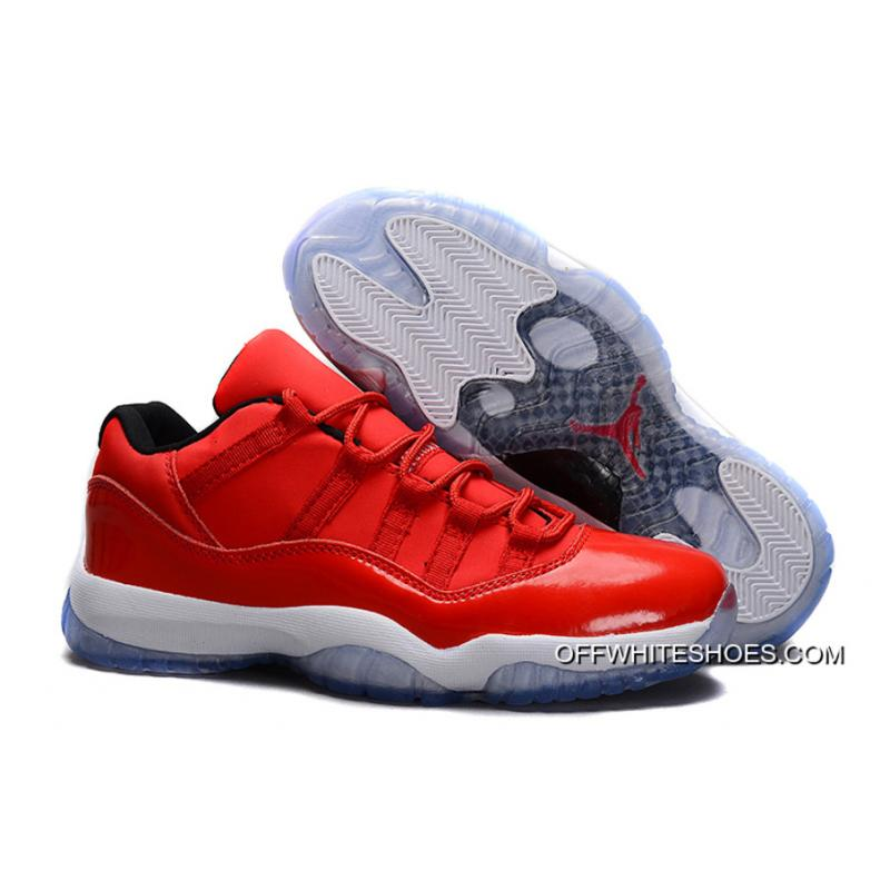 Air Jordan 11 Retro Low Red PE Carmelo Anthony Red White Shoes