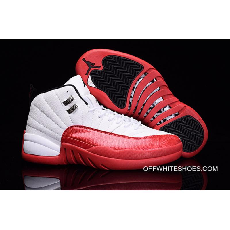 """great look undefeated x top brands Air Jordan 12 """"Cherry"""" White/Varsity Red-Black For Sale"""