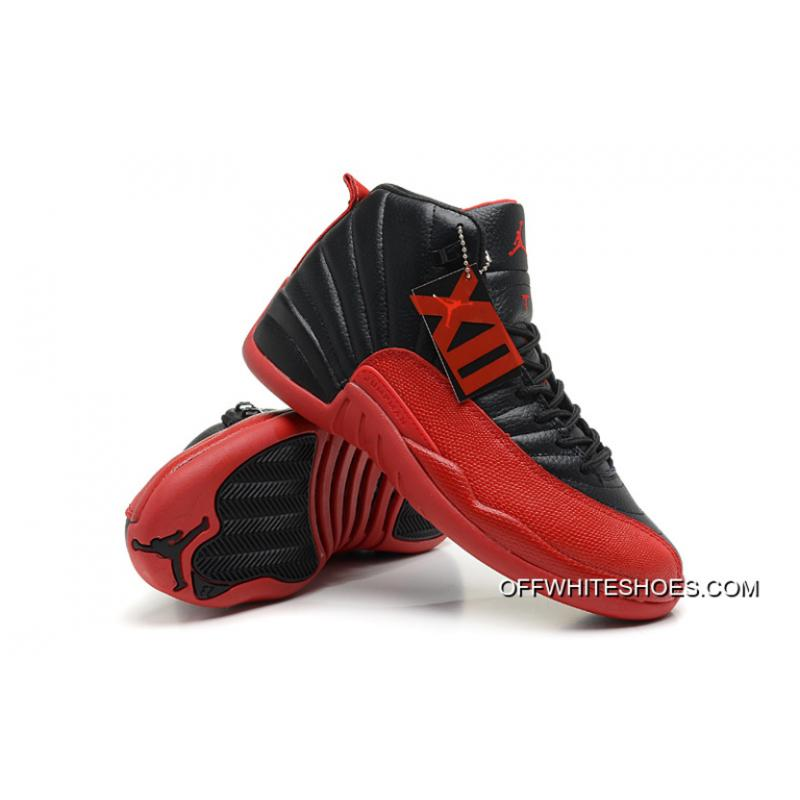"info for c5223 fea01 ... Air Jordan 12 Retro ""Flu Game"" Black Varsity Red Off-White Cheap ..."