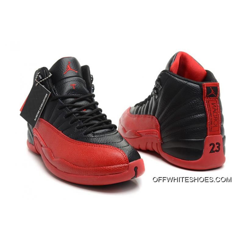 "quality design 78baf f18d9 ... Air Jordan 12 Retro ""Flu Game"" Black Varsity Red Off-White Cheap"