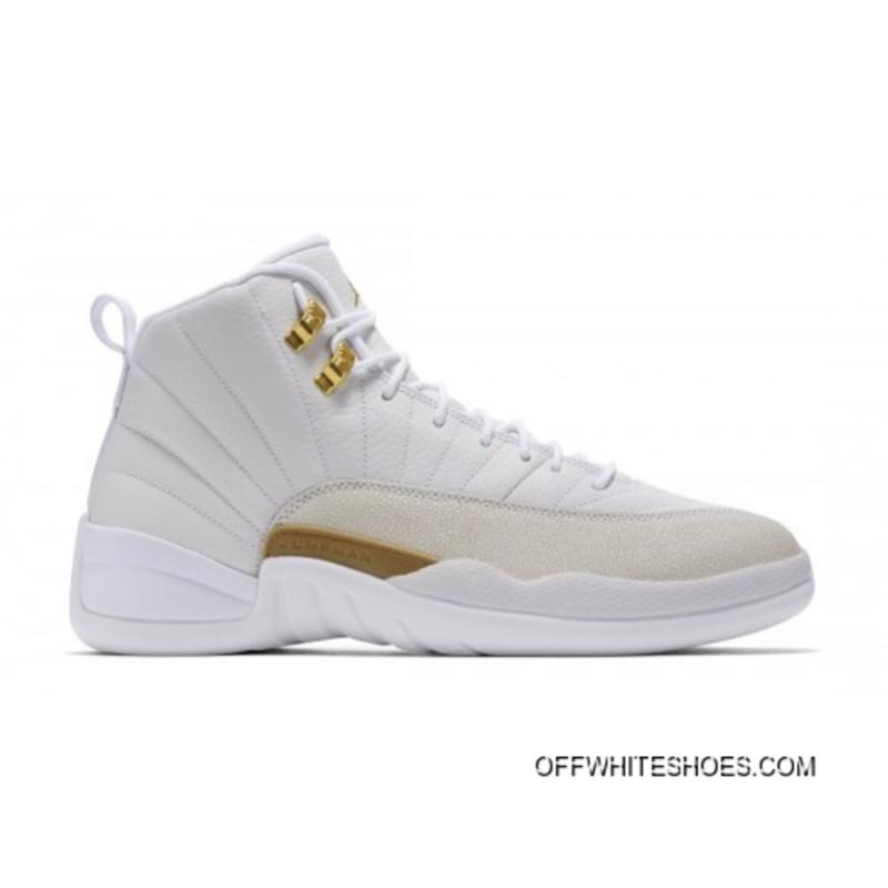 c95596ec658440 Top Deals Authentic Air Jordan 12 Retro X OVO White Metallic Gold-White  873864 ...