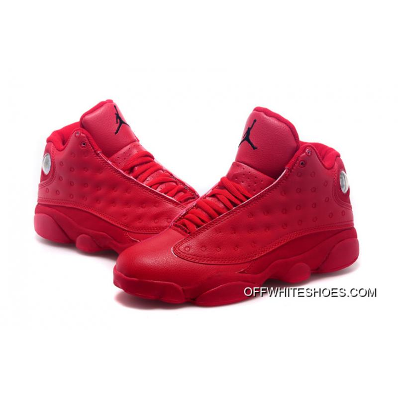 ... Latest Air Jordan 13 All Red Shoes