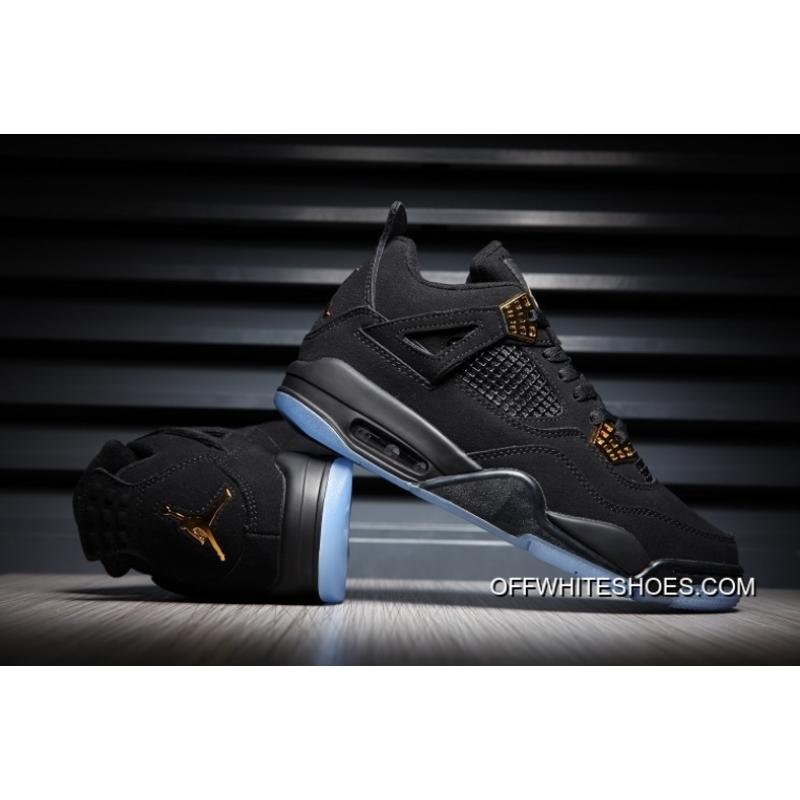 65cf040aed7d24 Off-White New Release Air Jordan 4 Black Gold Glow ...