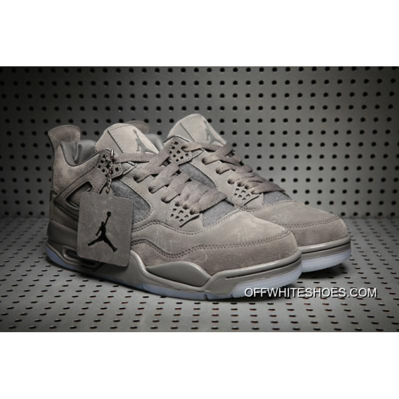 KAWS X Air Jordan 4 Cool GreyWhite Glow In The Dark Sole