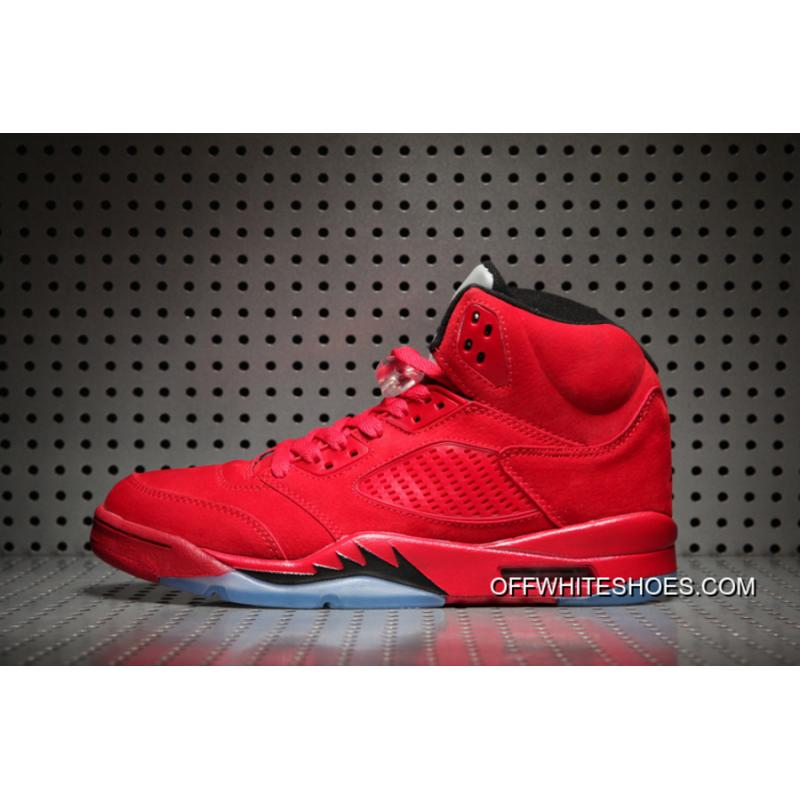 newest 3d643 797b8 ... Off-White Authentic Air Jordan 5   Red Suede   University Red  ...