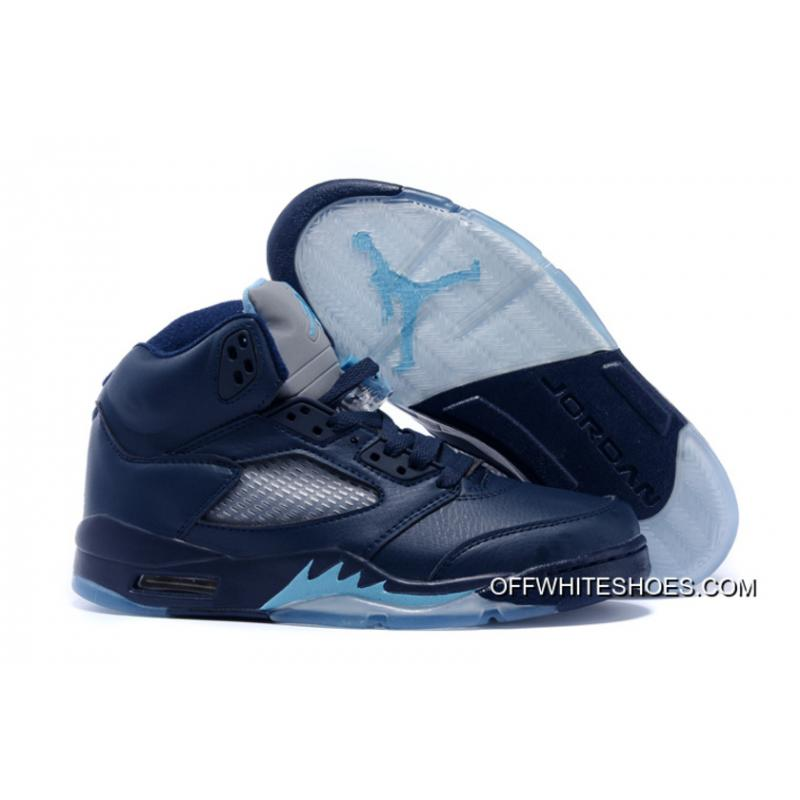 "e2e4444bb104fa Online Air Jordan 5 ""Hornets"" Midnight Navy Turquoise Blue-White ..."