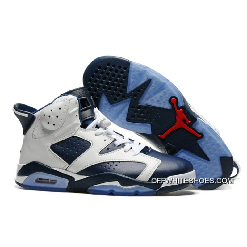 "Air Jordan 6 ""Olympic"" White Midnight Navy-Varsity Red Discount ... 5d4b7c7e1c"