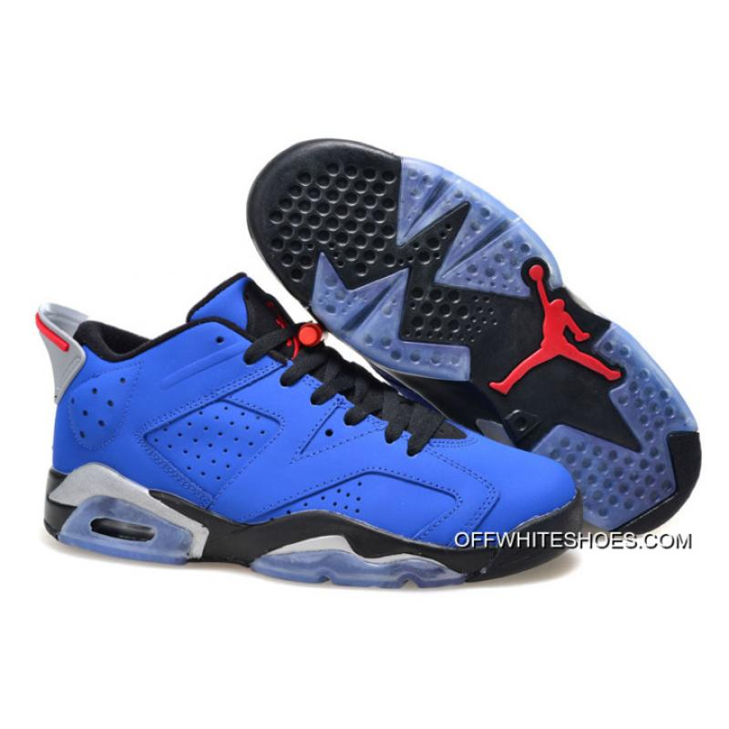 "8f82d2da55ec92 New Air Jordan 6 Low ""Eminem"" Blue Black Grey Super Deals ..."