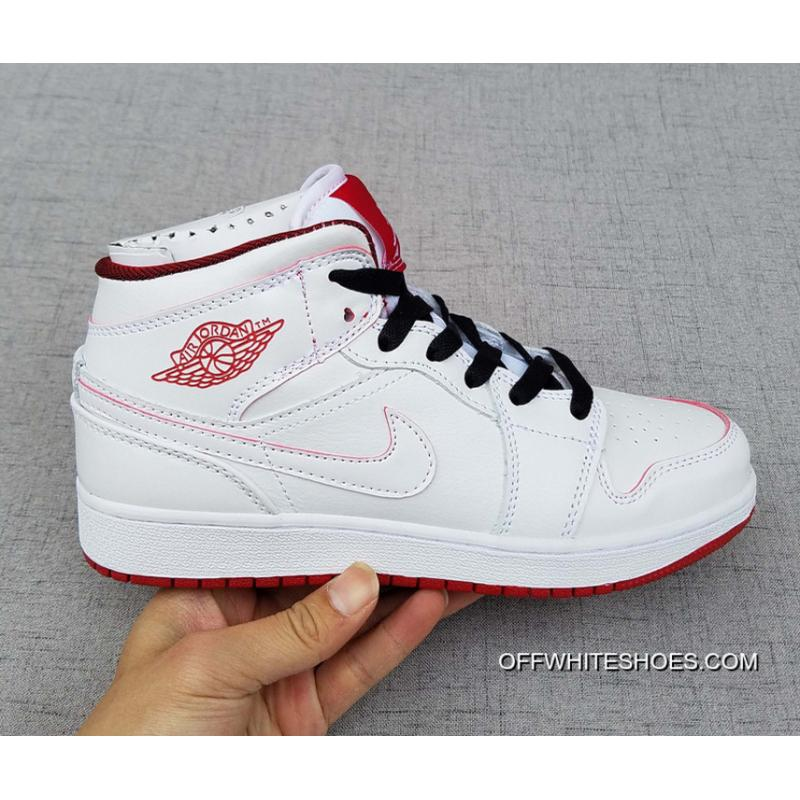 pretty nice 56ae6 00e3e Air Jordan 1 Mid GS White Gym Red Black New Year Deals ...