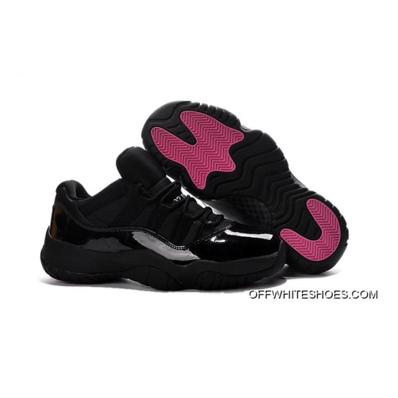 6ef01453c3b7 Air Jordan 11 Low Black Pink Lovers Shoe Discount ...