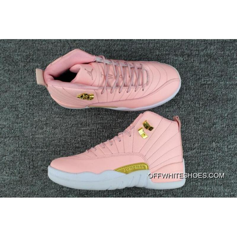 "447c5ccac39 Air Jordan 12 GS ""Pink Lemonade"" Pink/White-Gold Top Deals, Price ..."