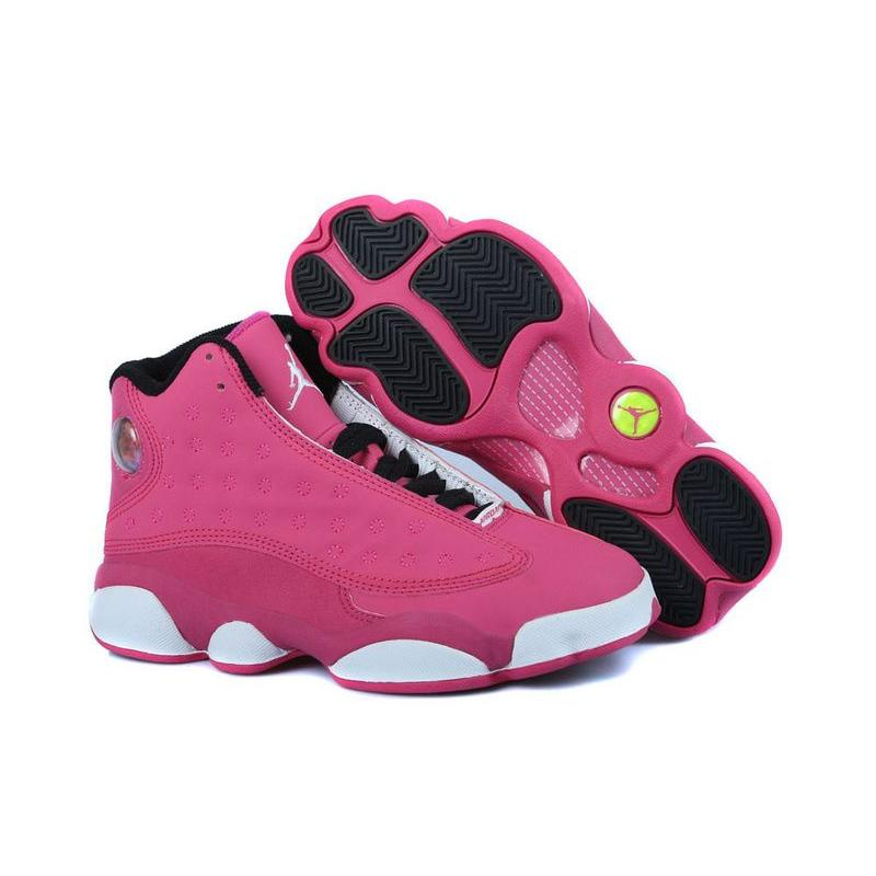 info for 1188e c3068 New Release New Air Jordan 13 GS Fusion Pink Black-White ...