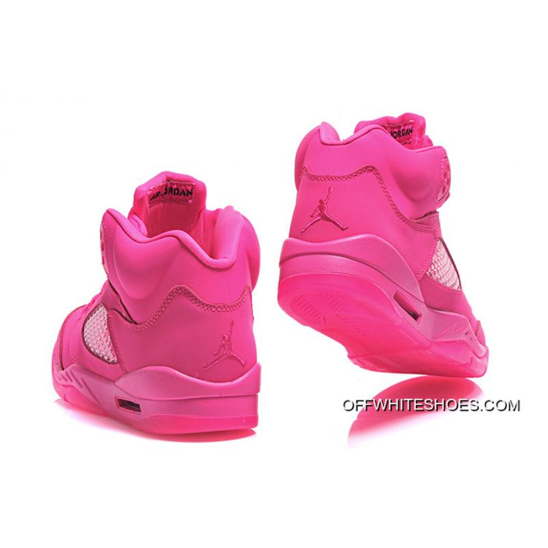 check out 82662 50a6f ... Air Jordan 5 GS All-Pink Shoes Off-White Discount ...
