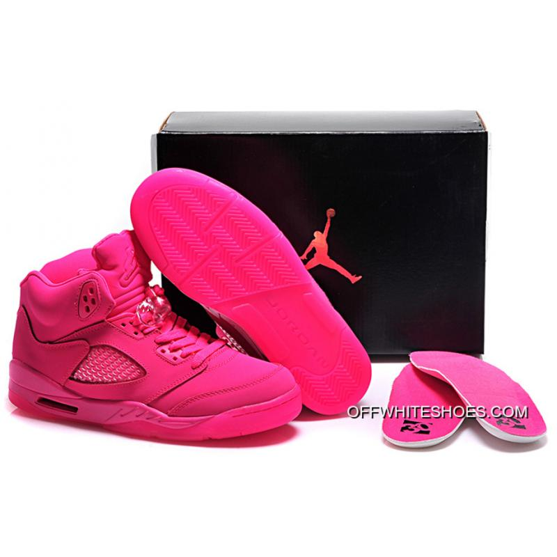 370513f66d8 Free Shipping New Air Jordan 5 GS All-Pink Shoes ...