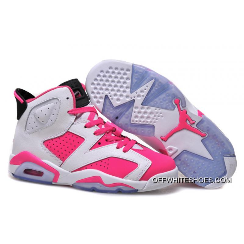 check out 4f43e bbee1 Air Jordan 6 GS White Pink Shoes Top Deals ...