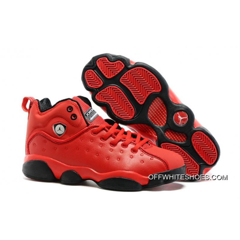 "size 40 fff74 7c6d1 New Jordan Jumpman Team 2 GS ""Raging Bull"" All-Red Outlet ..."