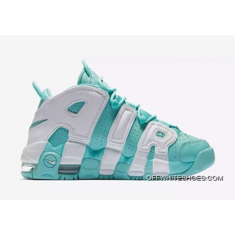 "size 40 a9c17 742cb Big Discount Nike Air More Uptempo GS ""Island Green"" ..."
