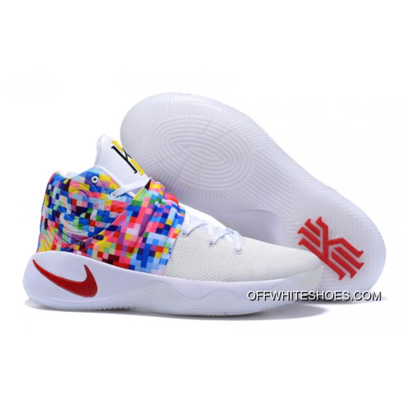 """5b33a2390c92 Girls Nike Kyrie 2 """"Effect"""" White-Red Multi-Color New Release ..."""