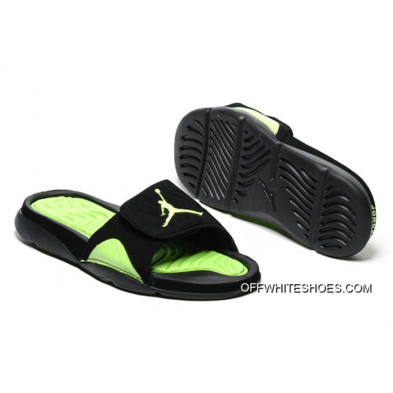 da6b00ff8 Discount Air Jordan Hydro IV Retro Black Green Slide Slippers ...