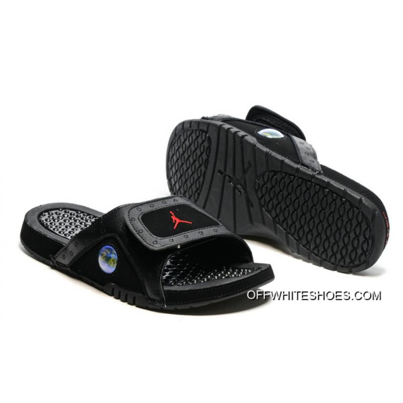 86b28c115a30 Jordan Hydro 13 Slide Sandals Black Gym Red Super Deals ...