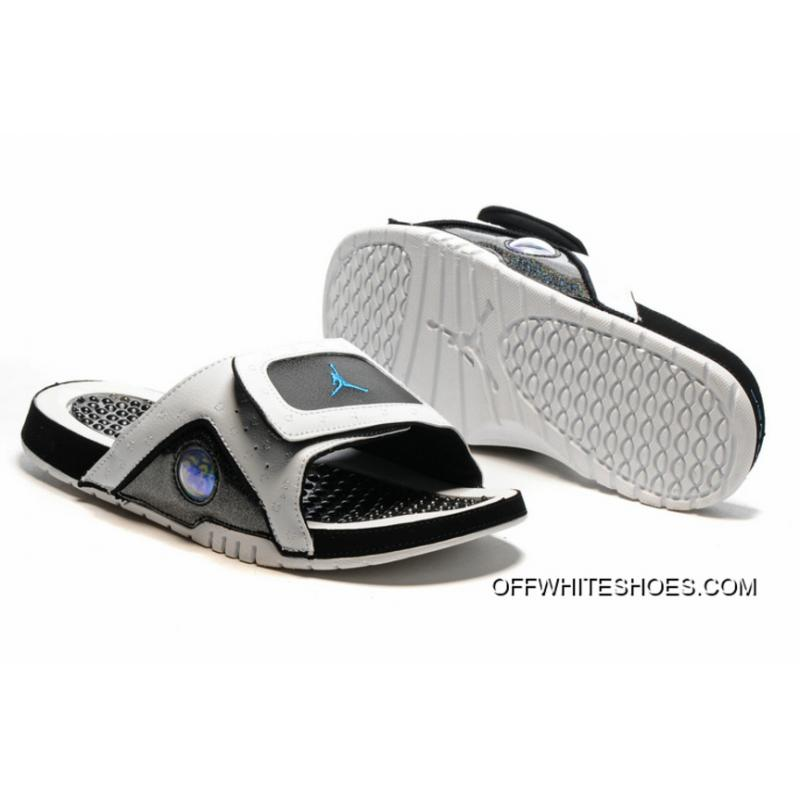 d2406fd3672838 Jordan Hydro 13 Slide Sandals White Black Blue Online ...