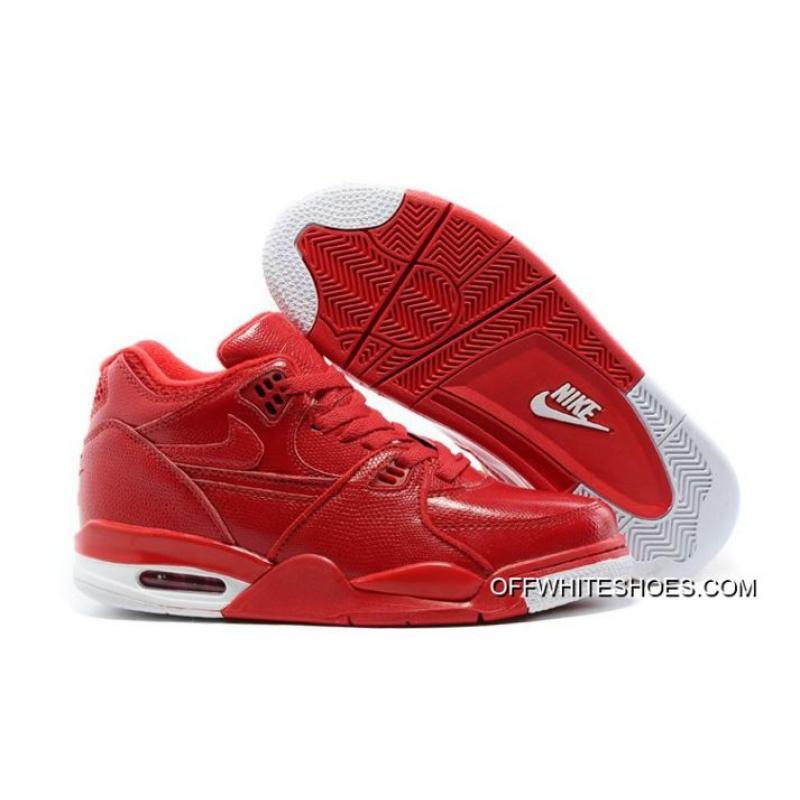 8295c0b5c8ac Top Deals Nike Air Flight  89 Red Leather Basketball Shoes ...
