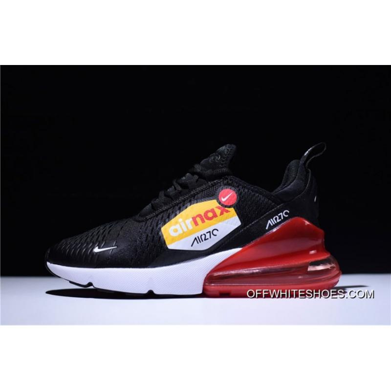 best service 2e1c9 45afb For Sale Nike Air Max 270 Black White Orange Running Shoes ...