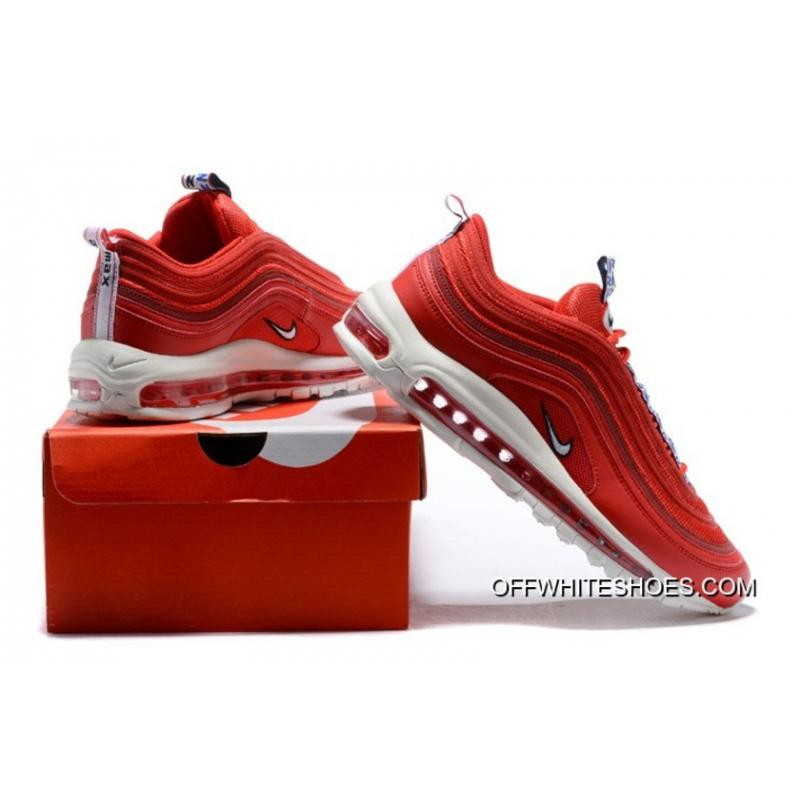 "new product d4e2a d495e ... Latest Nike Air Max 97 ""Pull Tab"" Gym Red White-Gym Blue"