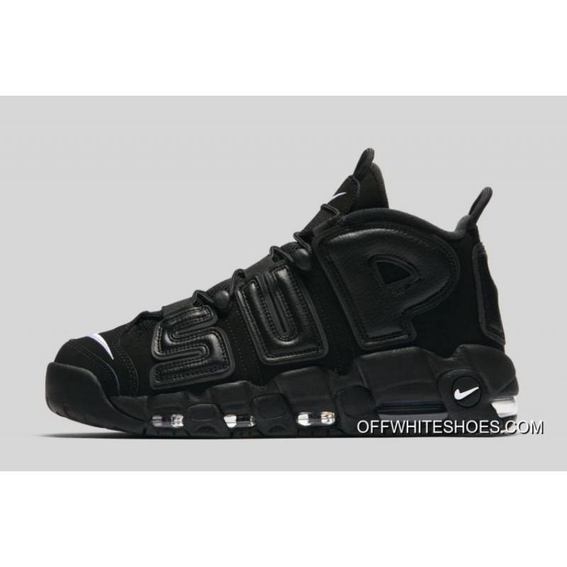 promo code 688b7 088aa Best Supreme X Nike Air More Uptempo Black White ...