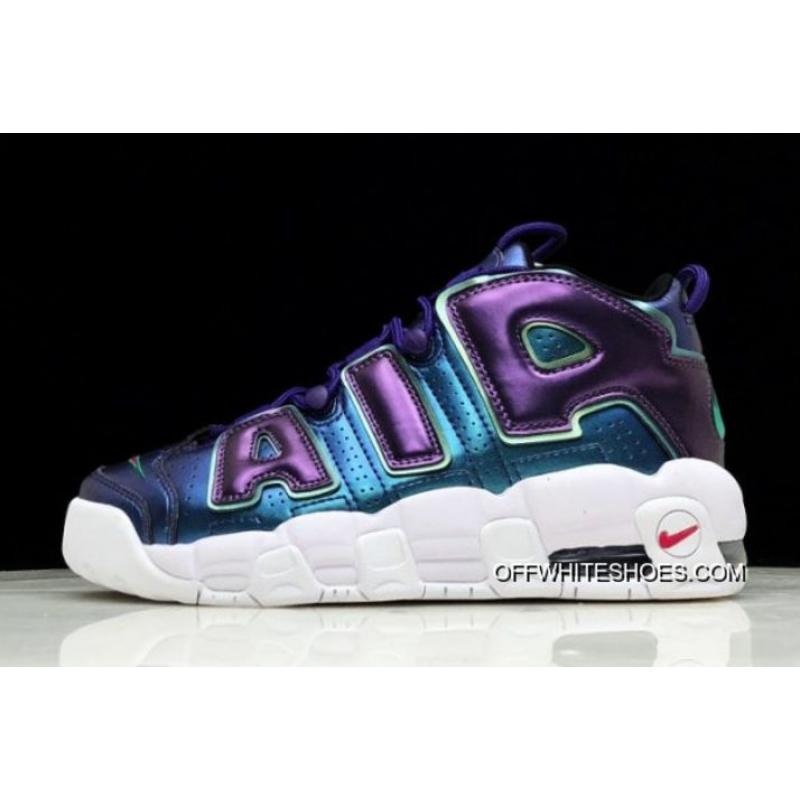 "Women s Nike Air More Uptempo GS ""Purple Iridescent"" Court Purple Rush  Pink- ... d2803a2517"