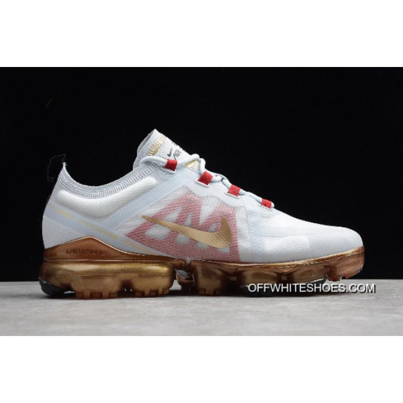 """hot sale online 50300 e991a ... Nike Air VaporMax 2019 """"Chinese New Year"""" Pure Platinum Metallic  Gold-Gym ..."""