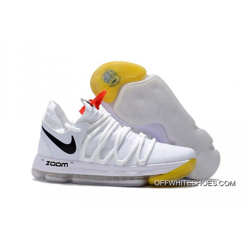 24b6999ac59 For Sale Off-White X Nike KD 10 White Black Yellow, Price: $95.02 ...