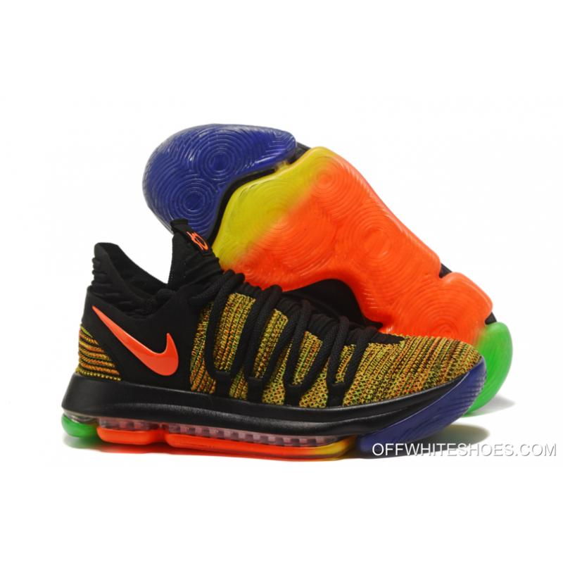 "finest selection 89ecb 8545b Nike KD 10 ""Peach Jam"" EYBL Multi-Color Copuon ..."