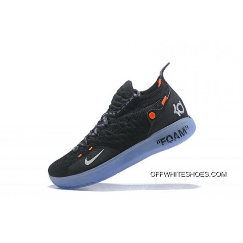 sports shoes 64238 9b3e6 Off-White X Nike KD 11 Black White-Orange Men s Basketball Shoes Online ...