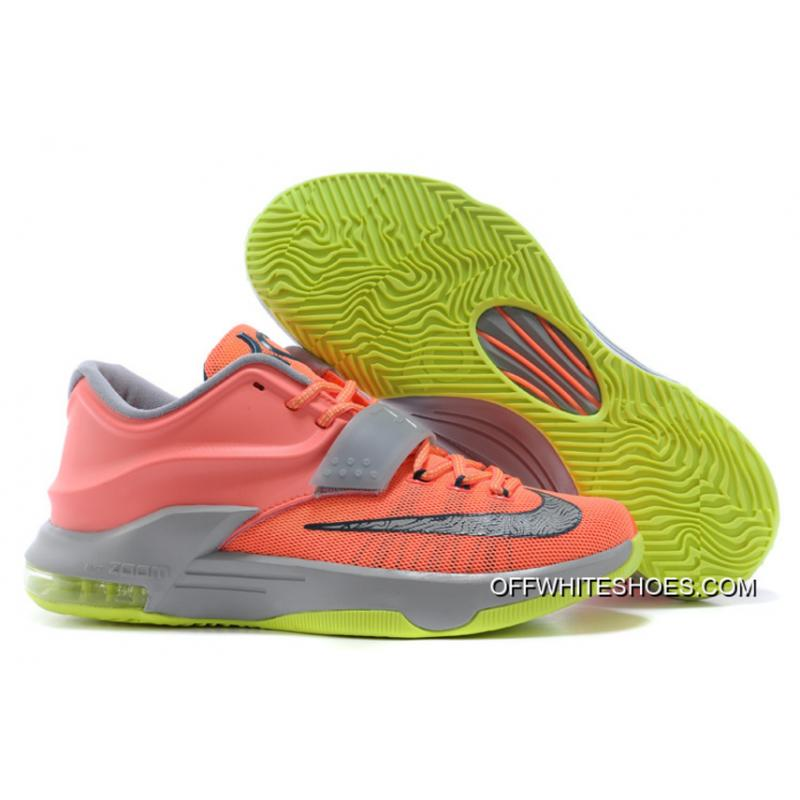 "Nike Kevin Durant KD 7 VII ""35000 Degrees"" Bright Mango/Space Blue/ ..."
