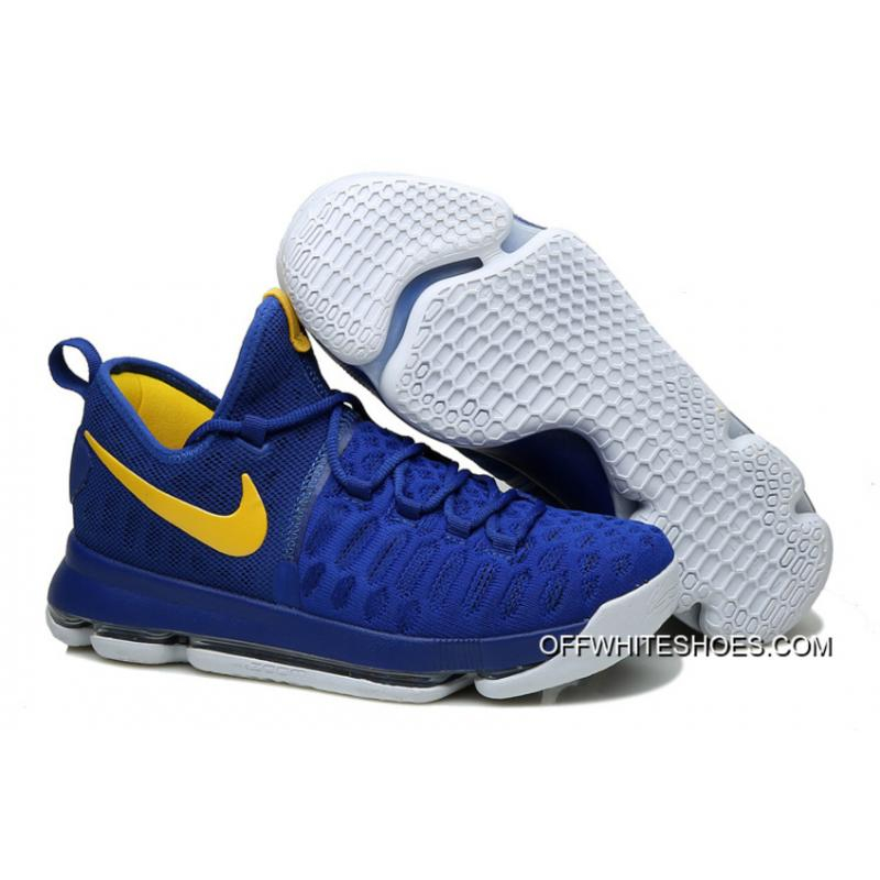 "size 40 f8d19 d0515 Nike KD 9 ""Golden State Warriors"" Blue Yellow White Off-White Best ..."