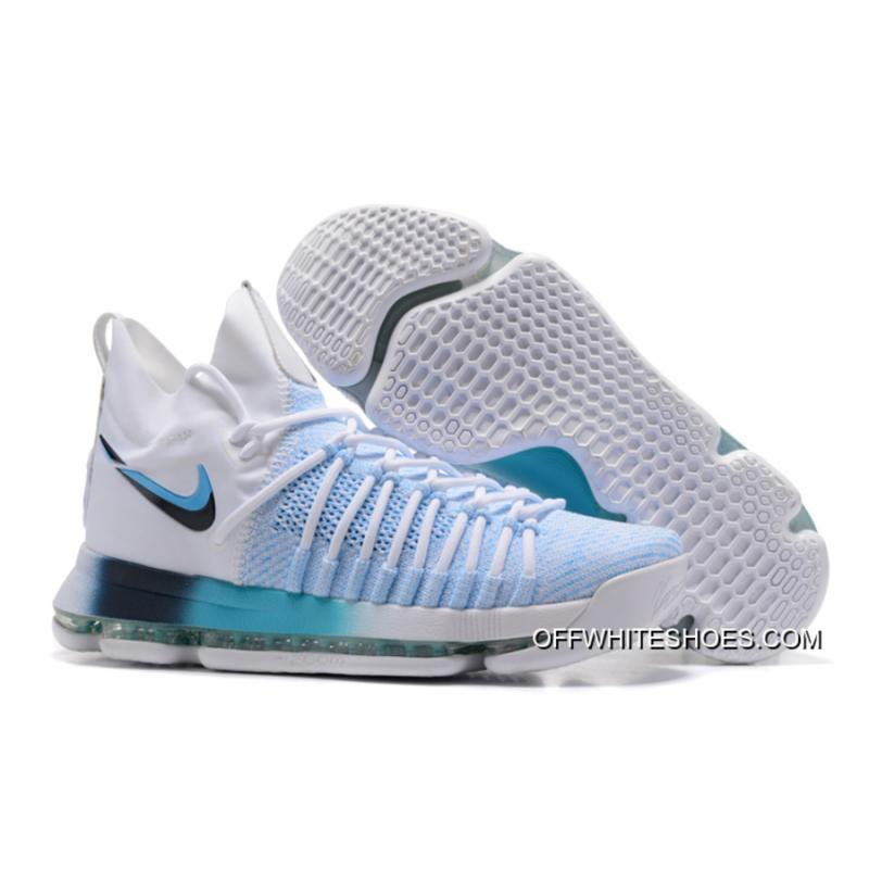 64bcc7970939 Nike Zoom KD 9 Elite White Blue Gradient New Style ...