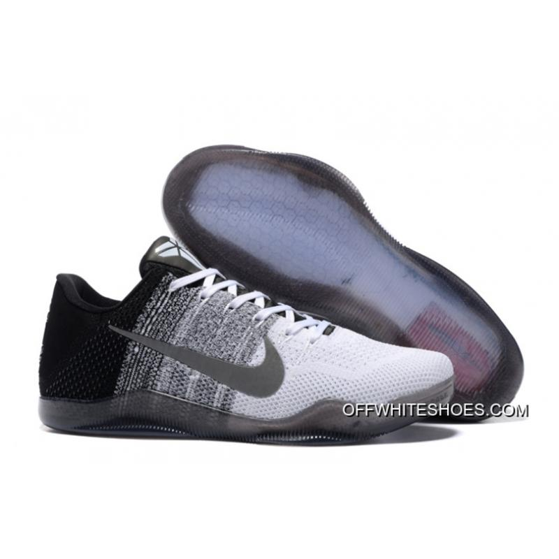 finest selection 28249 df61d Nike Kobe 11 White Black Basketball Shoes 2018 Free Shipping ...