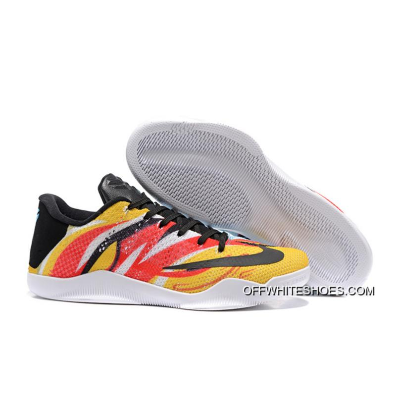 "413cdf45f20 Best Nike Kobe 11 Elite Low ""Sun WuKong"" Mens Basketball Shoes ..."