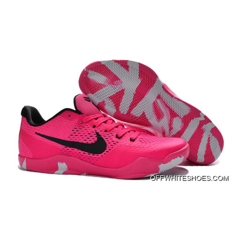 a0f05a9c500c For Sale Nike Kobe 11 EM Breast Cancer Pink Black Basketball Shoes ...