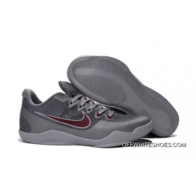 """new style 227d8 78e55 Outlet Nike Kobe 11 """"Aces"""" Cool Grey/Team Red-Wolf Grey"""