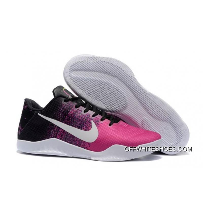 baecc908e617 Nike Kobe 11 Black Think Pink-White Shoes Free Shipping ...