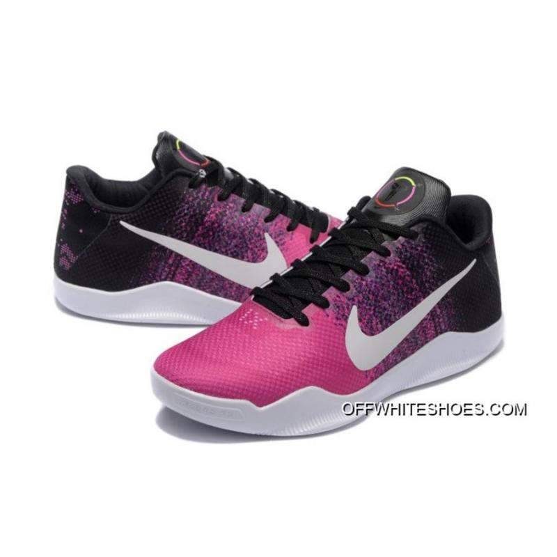 the latest 04f6f 9371d Nike Kobe 11 Black Think Pink-White Shoes Free Shipping .