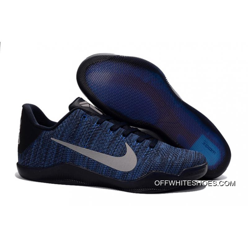 0069a0b2c084 Outlet Nike Kobe 11 Flyknit Blue Basketball Shoes ...