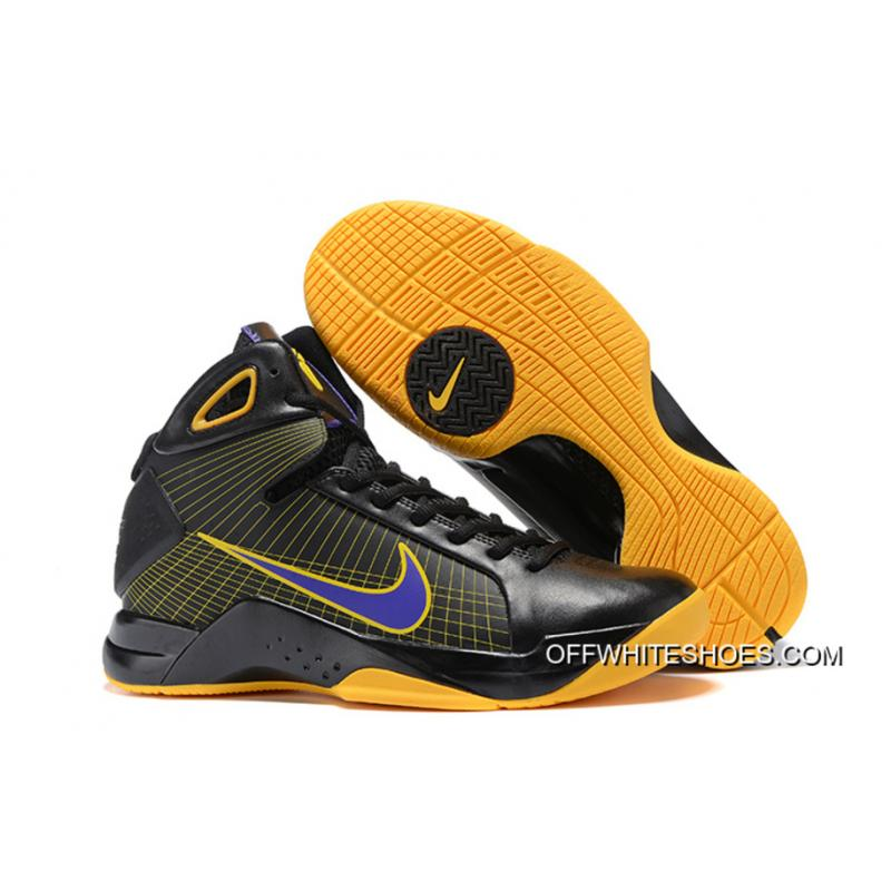 new arrival c1209 a8c91 Nike Zoom Kobe 4 (IV) Black Yellow Purple Outlet ...