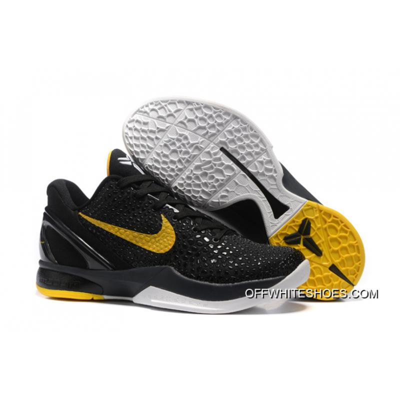 meet 5ee6f cc531 Nike Zoom Kobe 6 Black Yellow Basketball Shoes Authentic ...