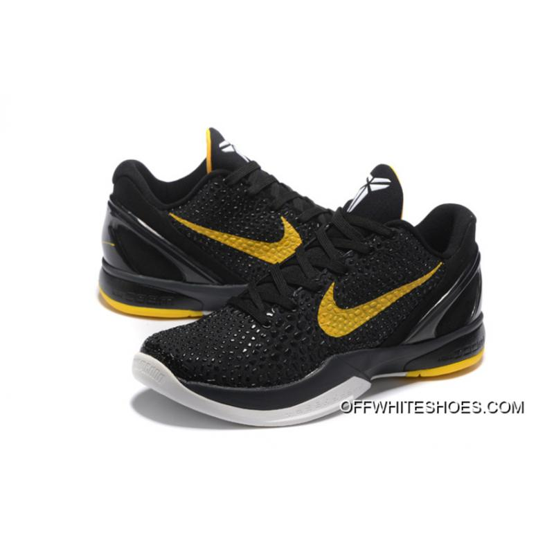 ... Nike Zoom Kobe 6 Black Yellow Basketball Shoes Authentic ... 3dd6609af59f